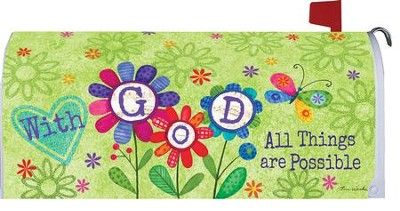 With God, All Things Are Possible Mailbox Cover  -     By: Tina Wenke