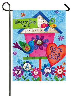 Everyday Is A Gift From God Flag, Small  -     By: Tina Wenke
