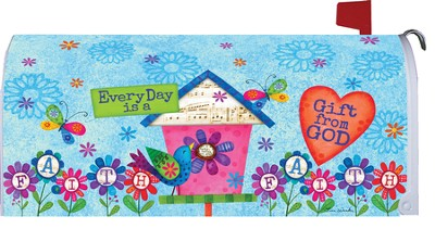Everyday Is A Gift From God Mailbox Cover  -     By: Tina Wenke