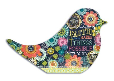 Faith Makes Things Possible Recipe Card Holder  -