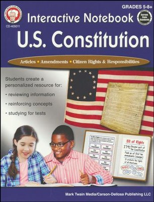 Interactive Notebook: U.S. Constitution, Grades 5 - 12  -     By: George Lee, Schyrlet Cameron