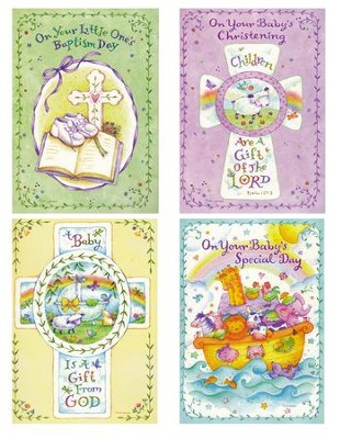 Baby Baptism, Cross and Vines Cards, KVJ, Box of 12  -