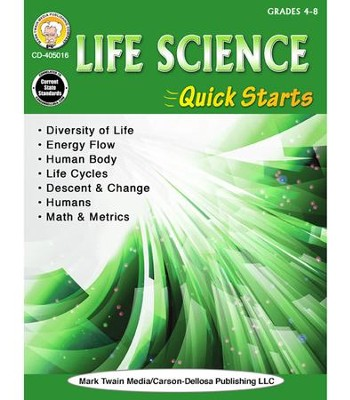 Life Science Quick Starts, Grades 4 - 9  -     By: Gary Raham