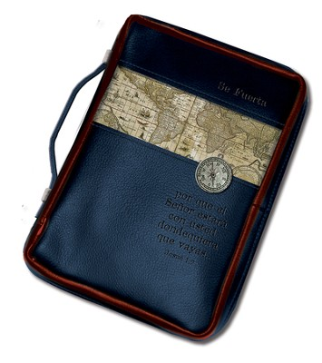 Se Fuerte, Forro de Biblia Compas, Grande  (Be Strong, Compass Bible Cover, Large)  -