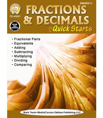 Fractions & Decimals Quick Starts, Grades 4 - 9  -     By: Vicky Shiotsu