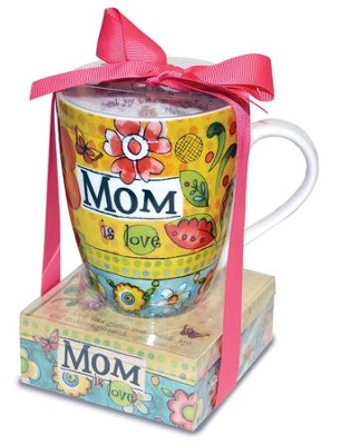 Mom Is Love Mug with Notepad  -
