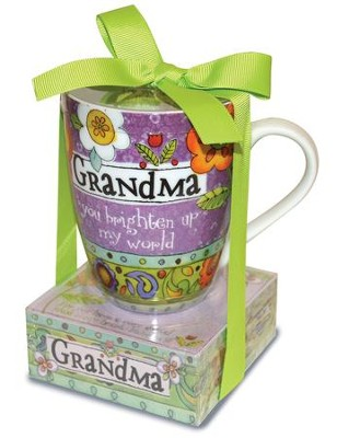 Grandma You Brighten Up My World Mug and Notepad  -