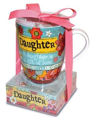 Daughter, A Daughter Is A Gift Of Love Mug and Notepad  -