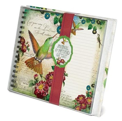 Cast Your Cares, Hummingbird, Journal and List pad Set  -