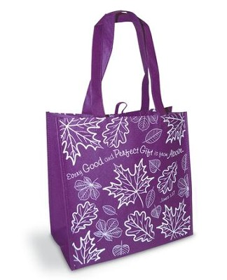 Every Good and Perfect Gift Eco Tote Bag, Purple  -