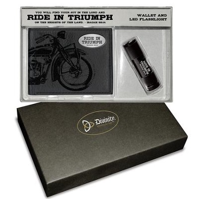 Ride In Triumph Gift set, Wallet and Flashlight  -