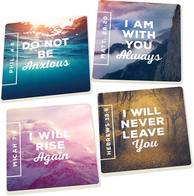 Nature Verse Coasters, Set of 4  -