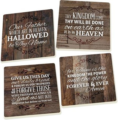 The Lord's Prayer Coasters, Set of 4  -