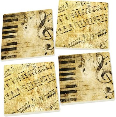 Music Coasters, Set of 4  -