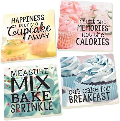 Cupcake Coasters, Set of 4  -