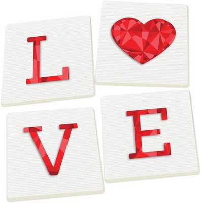 Love Coasters, Set of 4  -