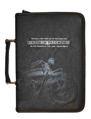 Ride In Triumph Bible Cover, Black, Large  -
