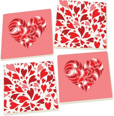 Heart Coasters, Set of 4  -