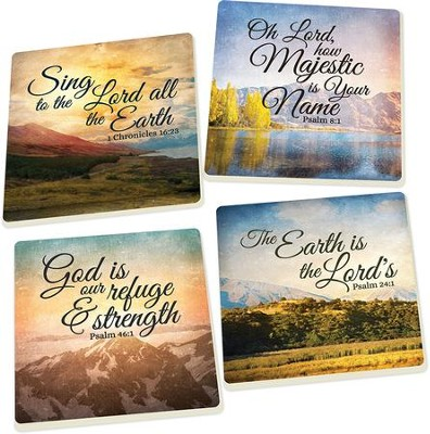 Scenery Scripture Coasters, Set of 4  -
