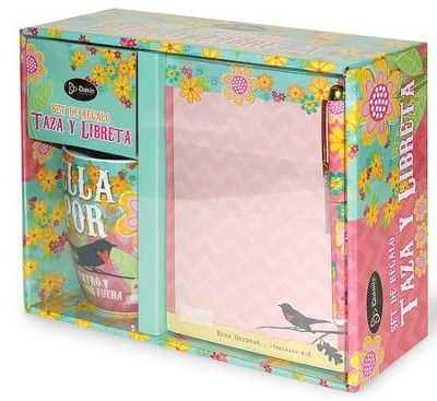 Bella, Por Dentro y Por Fuera, Taza y Libreta  (Beautiful, Inside and Out, Mug and Notepad Set)  -