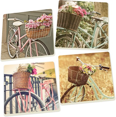 Bike Coasters, Set of 4  -