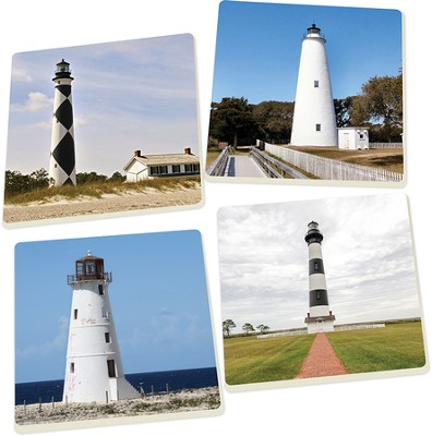 Lighthouse Coasters, Set of 4  -