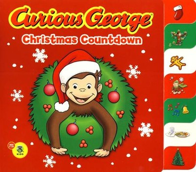 Curious George Christmas Countdown Tabbed Board Book  -     By: H.A. Rey