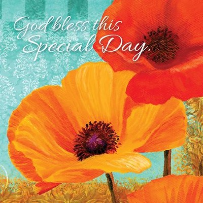 God Bless This Special Day, Poppies, Napkins, Pack of 20  -