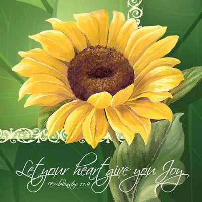 Let Your Heart Give You Joy, Sunflower, Napkins, Pack of 20  -