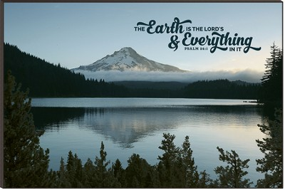The Earth is the Lord's, Mountain Scape Mounted Print  -