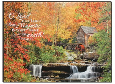 O Lord, Our Lord, Autumn Splendor Mounted Print  -