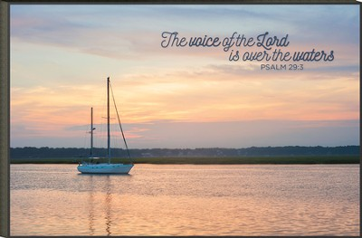 The Voice of the Lord, A Quiet Dawn Mounted Print  -