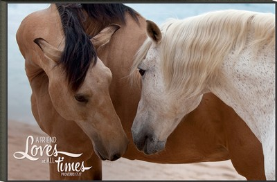 A Friend Loves at all times, Horse Mounted Print  -