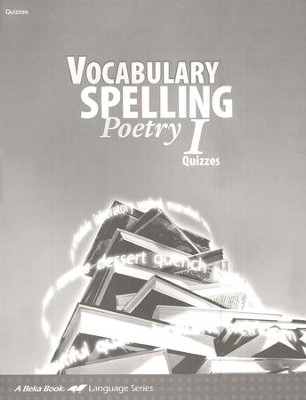 Vocabulary, Spelling, Poetry I Quizzes   -