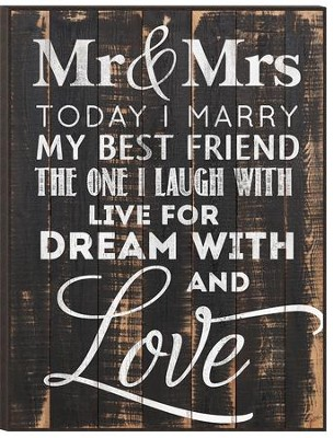 Today I Marry My Best Friend, Mounted Print  -