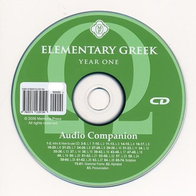 Elementary Greek Audio CD Companion   -     By: Christine Gatchell