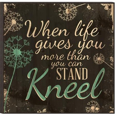 Kneel, Mounted Print  -