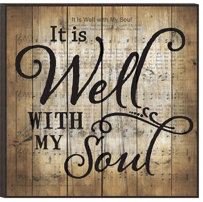 It is Well With My Soul, Mounted Print  -