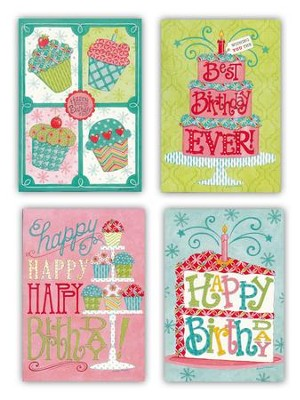 Birthday Sweets For Her Cards, Box of 12  -