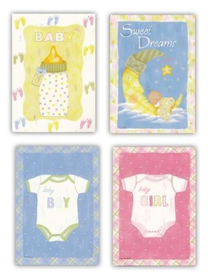 Baby Blessings Cards, Box of 12  -