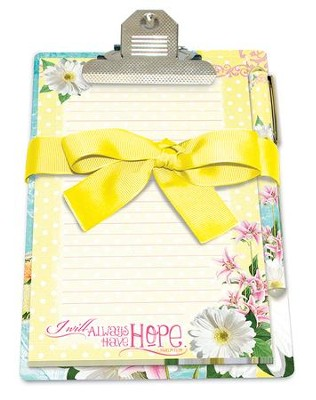 I Will Always Have Hope, Psalm 71:14, Clipboard Gift Set  -