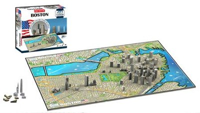 Boston--Cityscape History over Time 4-D Puzzle   -