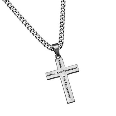 Strong and Courageous Truth Cross Necklace  -