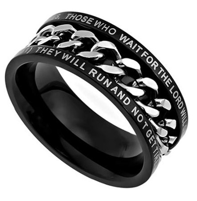 Strength Chain Ring , Size 9 (Isaiah 40:31)  -