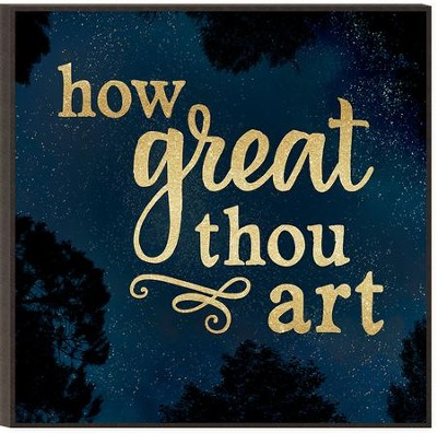 How Great Thou Art, Glitter Wall Art  -