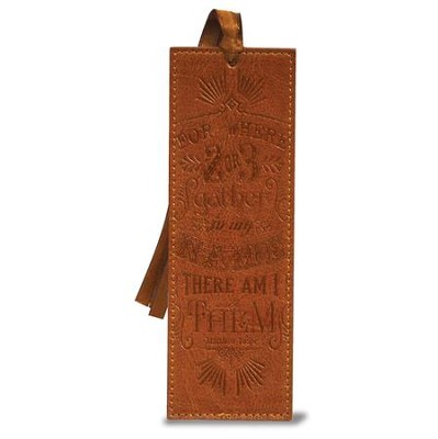 Matthew 18:20 Bookmark, Brown  -