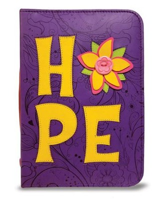 Hope Bible Cover, Purple and Yellow, X-Large  -