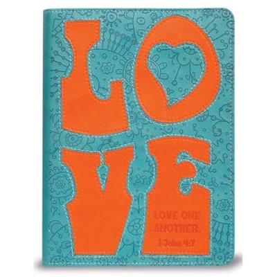 Love Journal, Teal and Orange  -