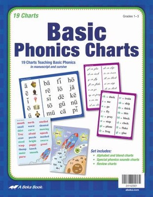 Abeka Basic Phonics Charts (Grades 1-3; New Edition)   -