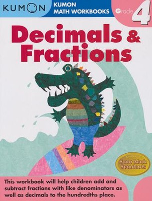 Kumon Decimals & Fractions, Grade 4    -